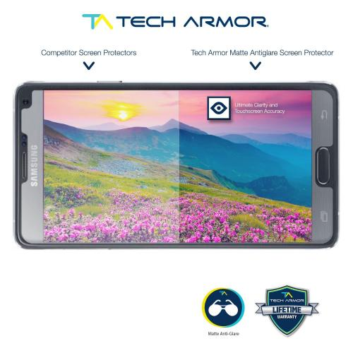 Tech Armor Samsung Galaxy Note 4 Anti-Glare/Anti-Fingerprint (Matte) Screen Protectors [3-Pack]