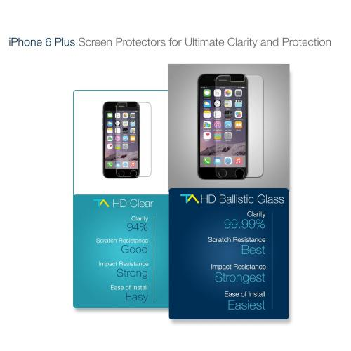 Apple iPhone 6 PLUS/6S PLUS (5.5 inch) Screen Protector, Tech Armor Premium Privacy Ballistic Glass Screen Protector  Protect Your Screen From Scratches And Drops