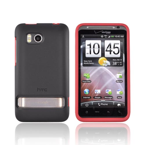 Original HTC Thunderbolt Rubberized Hard Case, 70H00373-06M - Red/ Black