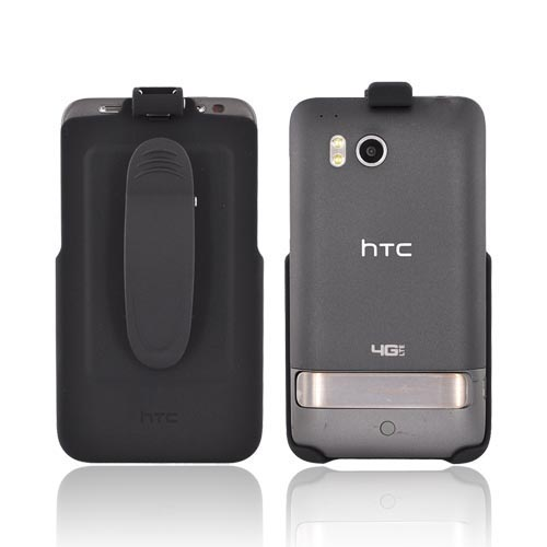 Original HTC Thunderbolt Rubberized Holster w/ Swivel Belt Clip, 70H00375-01M - Black
