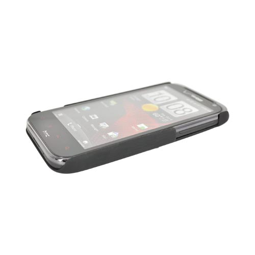 Original HTC Rezound Rubberized Hard Case w/ Textured Lines, 70H00497-00M - Black