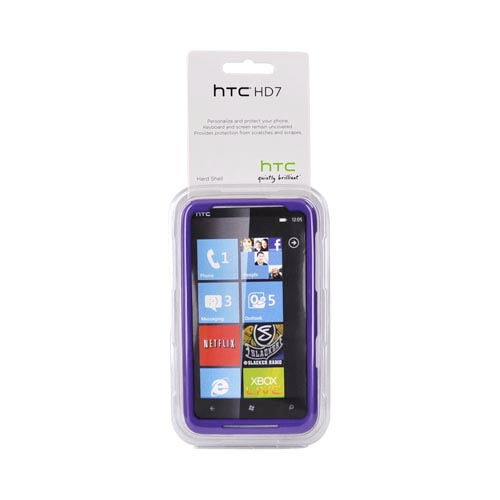 Original HTC HD7 / HTC HD7s Rubberized Hard Case, 70H00636-05M - Purple/Black