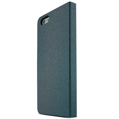 Metal Square Series [Teal / Black] Slim & Protective Flip Cover Diary Case w/ ID Slots Made for Apple iPhone 6 PLUS/6S PLUS (5.5 inch)
