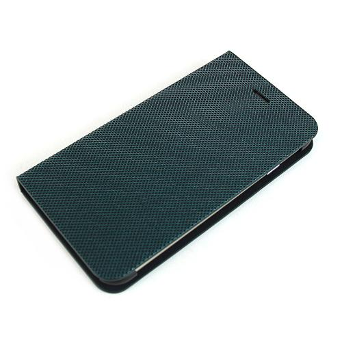 Metal Square Series [Teal / Black] Slim & Protective Flip Cover Diary Case w/ ID Slots Made for Apple iPhone 6 (4.7 inch)