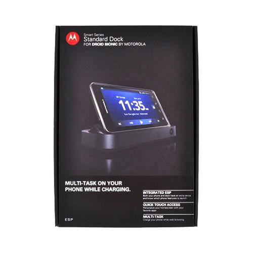 OEM Motorola Droid Bionic Standard Dock w/ 3.5mm Audio Jack & Rapid Wall Charger - Black