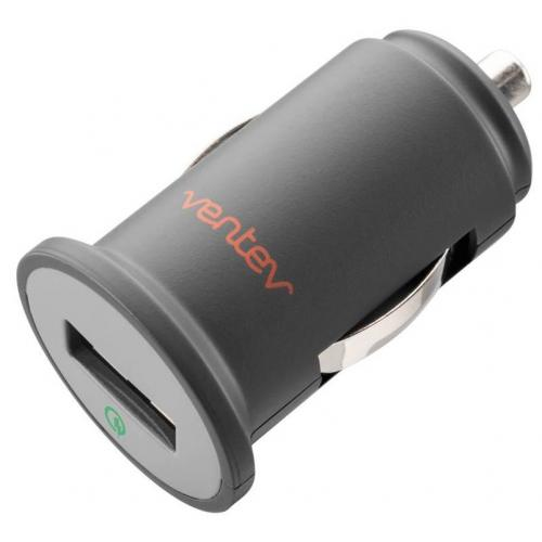 Ventev Gray Qualcomm Quick Charge Dashport q1200 USB Car Charger Adapter w/ Micro USB Data Cable