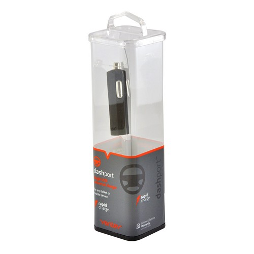 Ventev Black Universal Single 2A USB Port Car Charger (2100 mAh) - Perfect for Tablets!