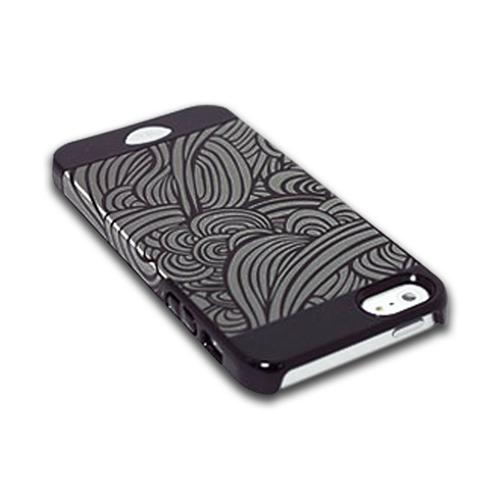 Apple iPhone SE / 5 / 5S  Case, iSkin [Black Swirl]  Hard Case  - SWIPH5-BK1