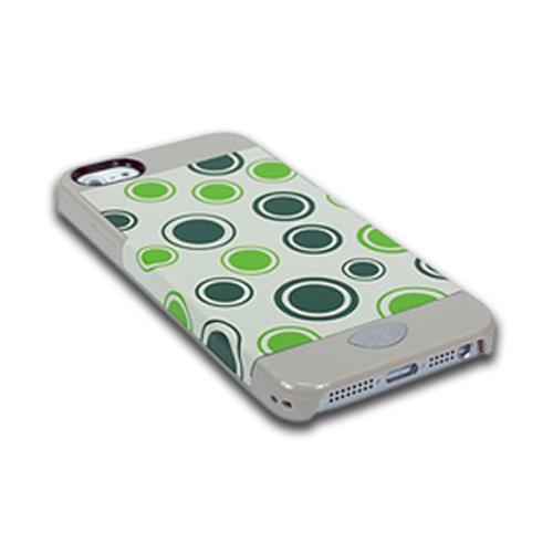 Apple iPhone SE / 5 / 5S  Case, iSkin [Green] Vibe Polka Dots Series Hard Case  - VBPKD5-GN3