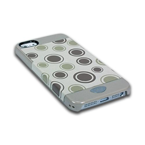 Apple iPhone SE / 5 / 5S  Case, iSkin [Grey] Vibe Polka Dots Series Hard Case  - VBPKD5-GY4