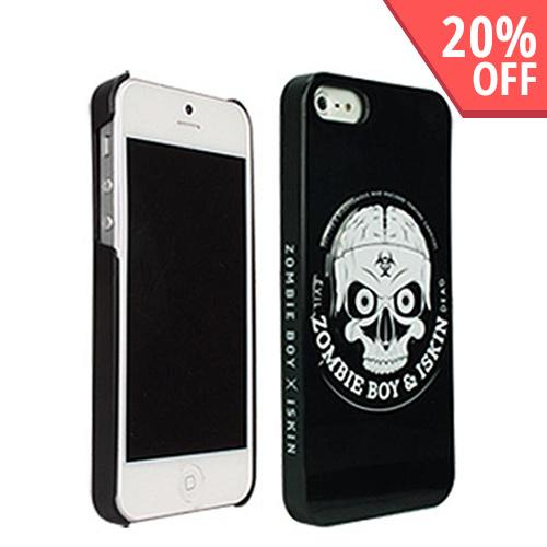 Apple iPhone SE / 5 / 5S  Case, iSkin [White Skull] Zombie Boy Black Hard Case - SKULL-IP5