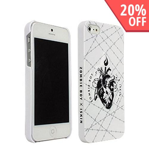 Original iSkin Zombie Boy Bleeding Heart on White Hard Case for iPhone 5/5S - BLDHRT-IP5