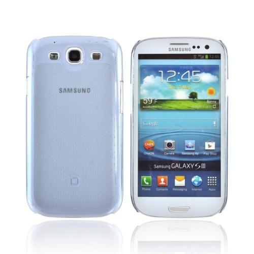 OEM Dicota Slim Cover Samsung Galaxy S3 Crystal Silicone Case, D30556 - Transparent Blue