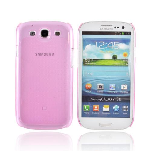 OEM Dicota Slim Cover Samsung Galaxy S3 Crystal Silicone Case, D30574 - Transparent Pink