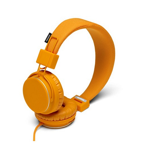 Pumpkin Orange UrbanEars Universal Over-Ear Collapsible Headphones w/ Microphone & Tangle-Free Cord