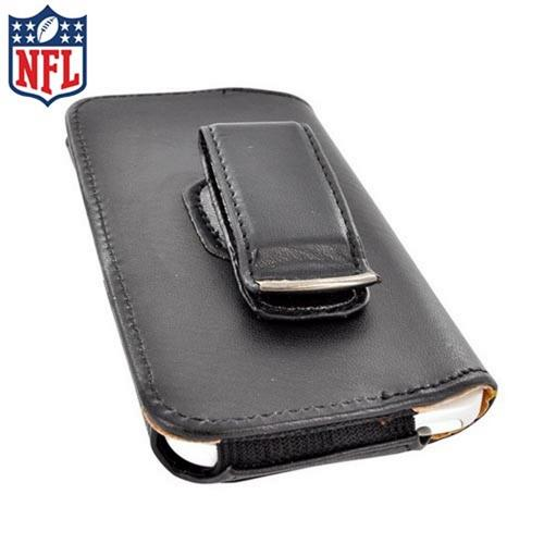 Licensed NFL Universal Dallas Cowboys Horizontal Leather Holster Pouch - Black (PUT)