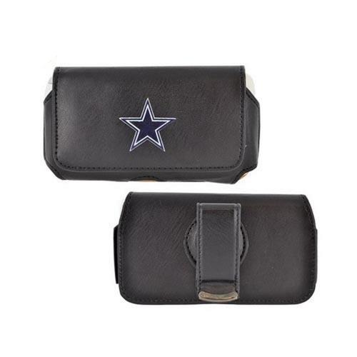 Licensed NFL Universal Dallas Cowboys Horizontal Leather Pouch - Black (PUT)