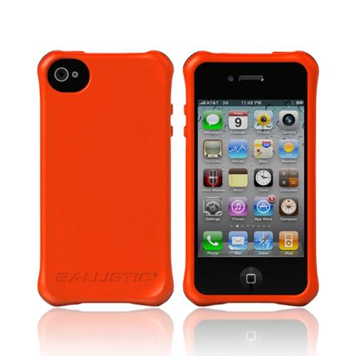 OEM Ballistic Apple iPhone 4/4S Lifestyle Smooth Gel Skin Case w/ Interchangeable Corner Bumpers - Orange