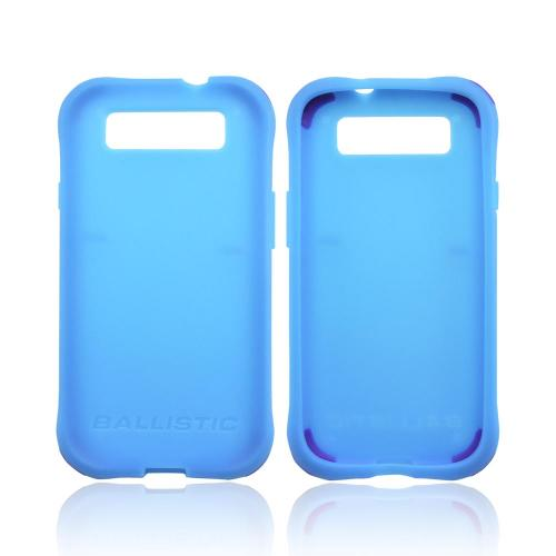 OEM Ballistic Samsung Galaxy S3 Lifestyle Smooth Gel Skin Case w/ Interchangeable Corner Bumpers - Teal