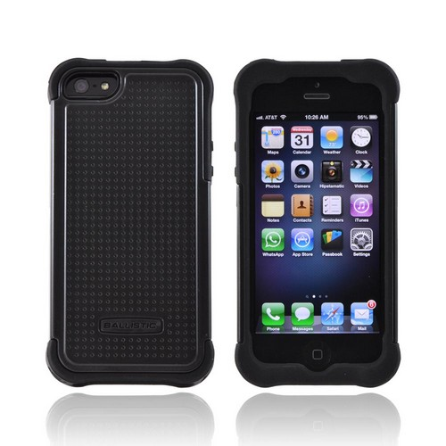 Ballistic Black SG Series Hard Case on Silicone for Apple iPhone 5/5S - SG0926-M005
