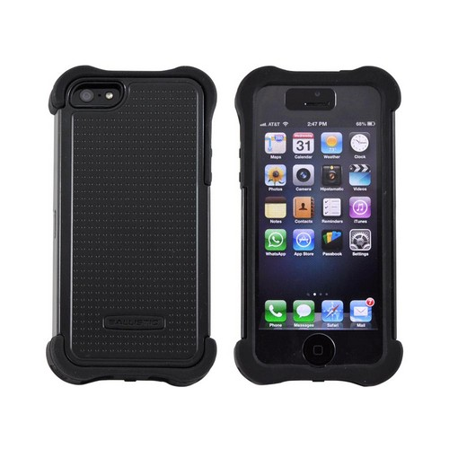 OEM Ballistic Apple iPhone 5 SG MAXX Hybrid Case w/ Holster & Screen Protector, SX0945-M005 - Black
