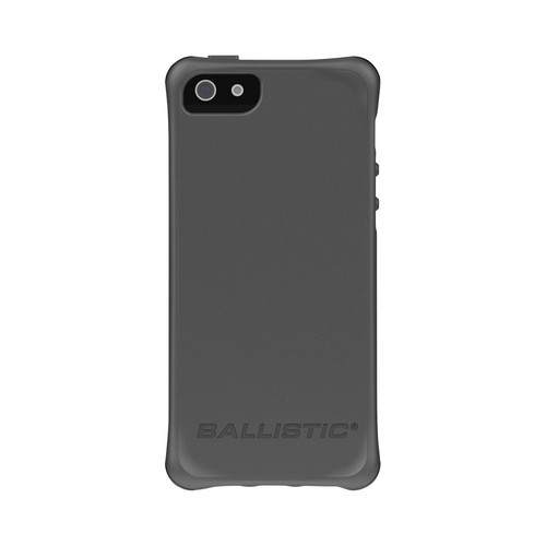 Apple iPhone SE / 5 / 5S  Case, Ballistic [Gray] Lifestyle Smooth Series Gel Skin Case w/ Interchangable Corner Bumpers