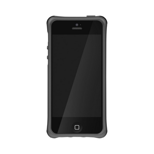 Ballistic Gray Lifestyle Smooth Series Gel Skin Case w/ Interchangable Corner Bumpers for Apple iPhone 5