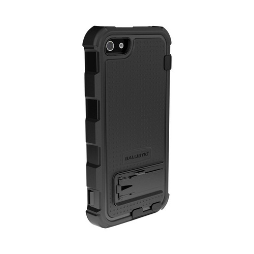 Ballistic Black Hard Core Series Hybrid Case w/ Holster & Built-In Screen Protector for Apple iPhone 5