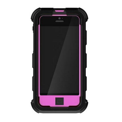 Ballistic Black/ Pink Hard Core Series Hybrid Case w/ Holster & Built-In Screen Protector for Apple iPhone 5