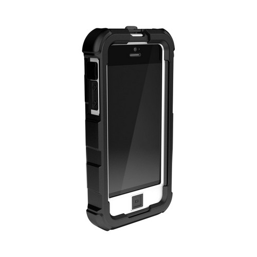 Ballistic Black/ White Hard Core Series Hybrid Case w/ Holster & Built-In Screen Protector for Apple iPhone 5