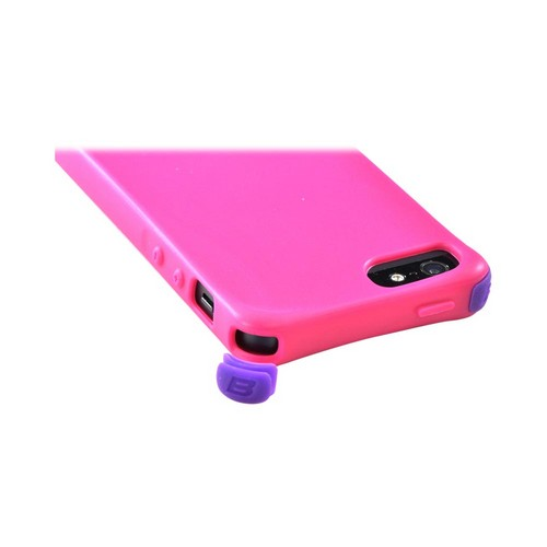OEM Ballistic Apple iPhone 5/5S Lifestyle Smooth Gel Skin Case w/ Interchangeable Corner Bumpers  LS0955-M695 - Hot Pink
