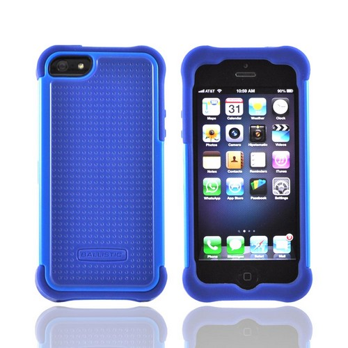 OEM Ballistic Apple iPhone 5/5S SG Hard Case on Silicone  SG0926-M775 - Blue/ Navy