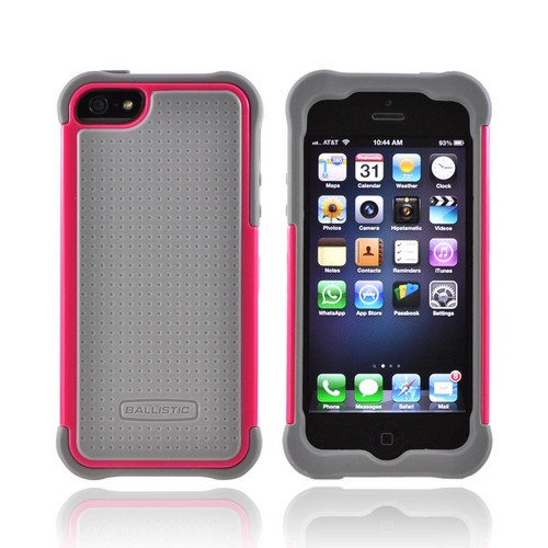 Ballistic Gray/ Magenta SG Series Hard Case on Silicone for Apple iPhone 5/5S - SG0926-M115