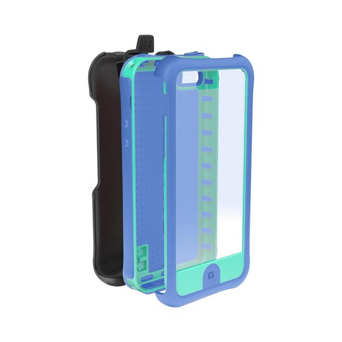 Ballistic Teal/ Purple Every1 Series Hybrid Case w/ Holster & Built-In Screen Protector for Apple iPhone 5