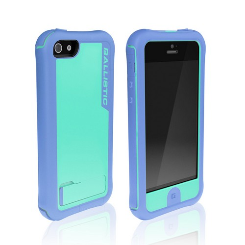 Apple iPhone SE / 5 / 5S  Case, Ballistic [Teal/ Purple] Every1 Series Hybrid Case w/ Holster w/ Built-In Screen Protector