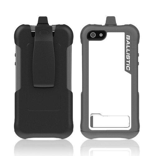 Apple iPhone SE / 5 / 5S  Case, Ballistic [White/ Gray] Every1 Series Hybrid Case w/ Holster w/ Built-In Screen Protector