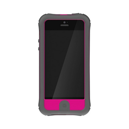 Ballistic Gray/ Hot Pink Every1 Series Hybrid Case w/ Holster & Built-In Screen Protector for Apple iPhone 5