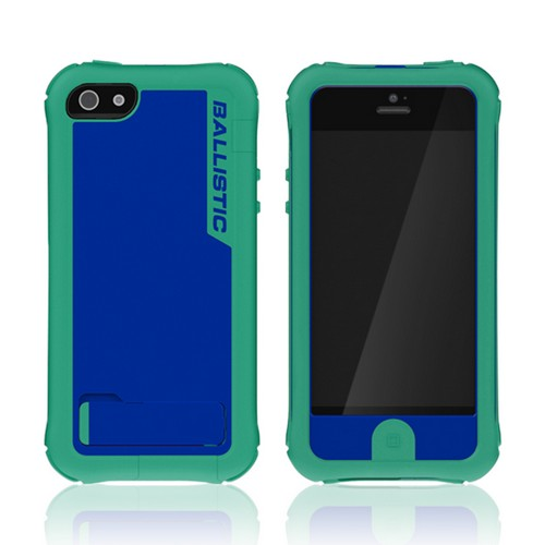 Ballistic Teal/ Blue Every1 Series Hybrid Case w/ Holster & Built-In Screen Protector for Apple iPhone 5