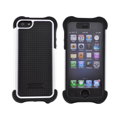 OEM Ballistic Apple iPhone 5 SG MAXX Hybrid Case w/ Holster & Screen Protector, SX0945-M385 - Black/ White