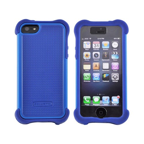 OEM Ballistic Apple iPhone 5 SG MAXX Hybrid Case w/ Holster & Screen Protector, SX0945-M775 - Blue/ Navy