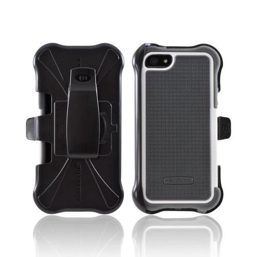 OEM Ballistic Apple iPhone 5 SG MAXX Hybrid Case w/ Holster & Screen Protector, SX0945-M185 - Gray/ White
