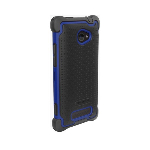 Ballistic Blue/ Gray SG MAXX Series Hybrid Case w/ Holster & Built-In Screen Protector for HTC 8X