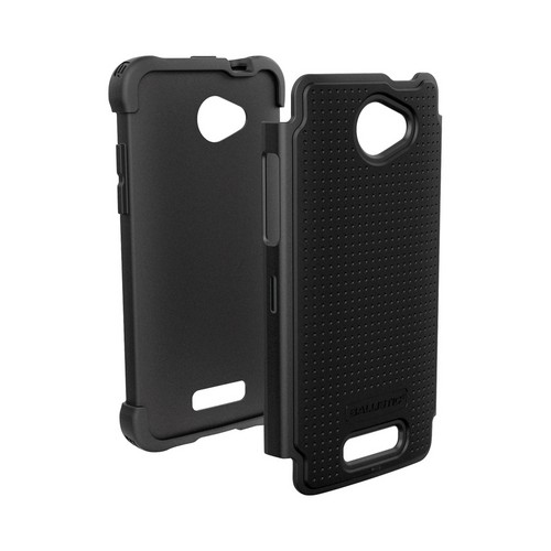 Ballistic Black Shell Gel (SG) Series Hard Case on Silicone for HTC Droid DNA