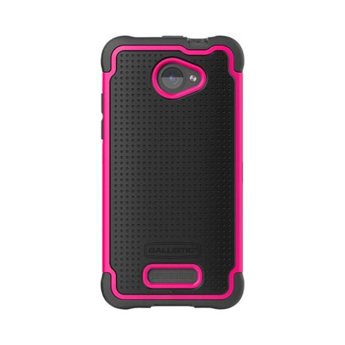Ballistic Black/ Hot Pink Shell Gel Series Back Cover On Silicone Case for HTC Droid DNA