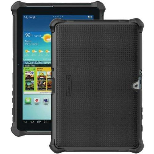 Ballistic Black Tough Jacket Series Hard Cover over Silicone Case w/ Cover & Kickstand for Samsung Galaxy Tab 2 10.1