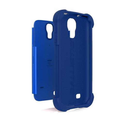 Ballistic Navy/ Cobalt Shell Gel Series Back Cover Over Silicone Case for Samsung Galaxy S4