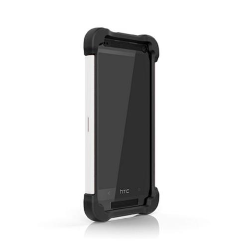 Ballistic Black/ White SG MAXX Series Hybrid Case w/ Holster & Built-In Screen Protector for HTC One Mini - SX1183-A085