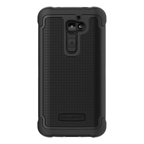 Ballistic Black Shell Gel (SG) Series Hard Case on Silicone for LG G2 - SG1227-A065 (AT&T, T-Mobile, & Sprint)