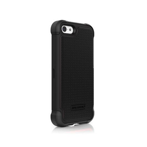 Ballistic Black Shell Gel (SG) Series Hard Back Cover Over Silicone Skin Case for Apple iPhone 5C - SG1148-A065