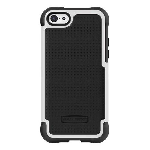 Ballistic Black/ White Shell Gel (SG) Series Hard Back Cover Over Silicone Skin Case for Apple iPhone 5C - SG1148-A085